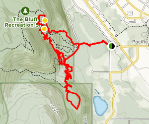 Smithers Mountain Biking - Bluff Trails Map