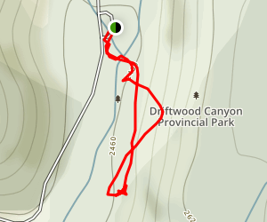 Driftwood Canyon Fossils Map