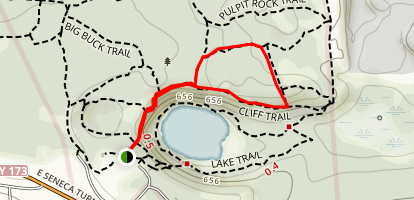 Cliff Trail to Pulpit Rock Trail Loop Map