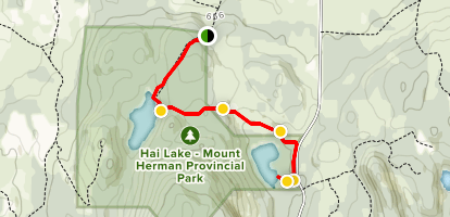 Hai Lake to Herman Lake Map