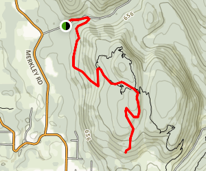 Toby's Lookout - Spring Creek Rd. Access Map