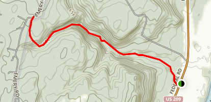 Hornbecks Creek (Indian Ladders) Trail Map