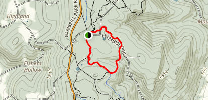 VW, Knuckle Buster and Catoctin National Recreation Trail Loop Map