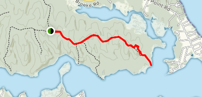 Crows Nest Point Trail Map