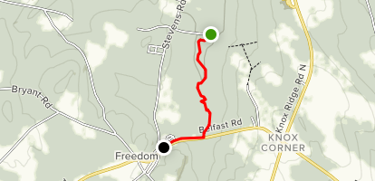 Hills to Sea Trail: Weed Rd to Freedom Village  Map