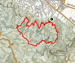 Prospect #3 to Mine Hill Trail Loop Map