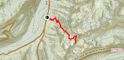 Crystal Lakes Trail to Sourdough Gap Map