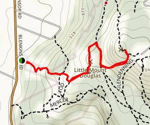 Mount Douglas via Bllenkinsop Trail Map