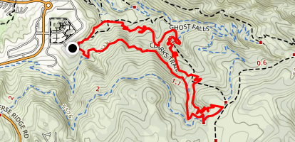 Clarks Canyon and Rush Trail Loop Map