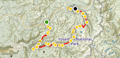 Yosemite High Country Open Loop Map