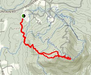 Burke Mountain Red and Blue Trail Map