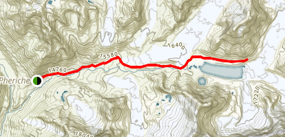 Dingboche to Chukhung to Imja Tse Base Camp Map