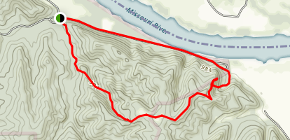Indian Cave Trail Map