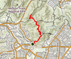 Pyles Peak Trail Map