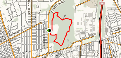 Edgewood Oak Brush Plains Preserve Mountain Bike Trail Map