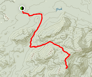 Mount Emmons and Donaldson Mountain  Map