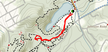 Rock Bridge Trail via Imerys Trail Map