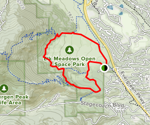 Founder's, Meadow View and Sleepy S Trail Loop Map