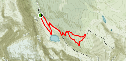 Edith Cavell Meadows Trail [CLOSED] Map