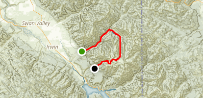 Palisades Creek To Sheep Creek Map