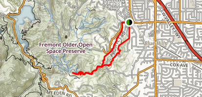 Parker Ranch Trail to Nob Hill Loop Map