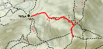 Lantau Peak Trail Map