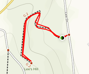 Lee's Hill Trail Map