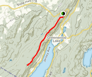 Appalachian Trail: Highway 17A to Bellvale Mountain Map