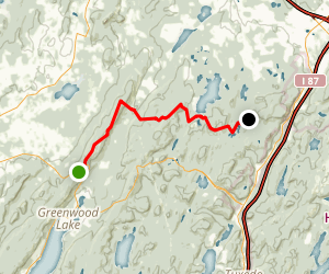 Appalachian Trail: Highway 17A to Little Dam Lake Map
