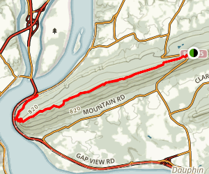 Appalachian Trail: Peters Mountain to Clark's Ferry  Map