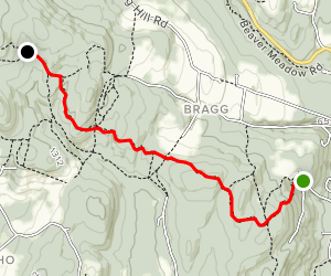 Appalachian Trail: Elm Street to Happy Hill Shelter Map