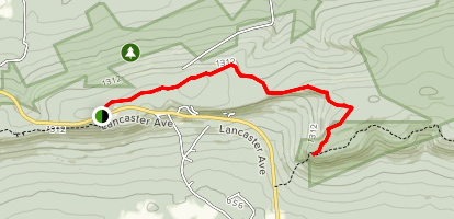 Round Head via Appalachian Trail Map
