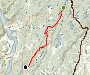 Appalachian Trail: Canopus Lake to Graymoor Map