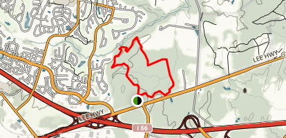 Conway Robinson Yellow and Blue Loop Trail Map