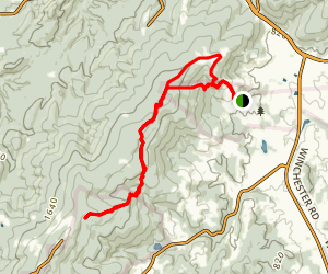 Sky Meadows State Park via Appalachian Trail Loop Map