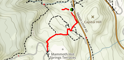 Mammoth Hot Springs Terraces Map