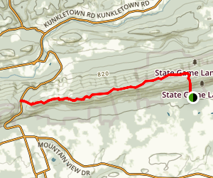 Appalachian Trail: Delps to Blue Mountain Ski Area Map