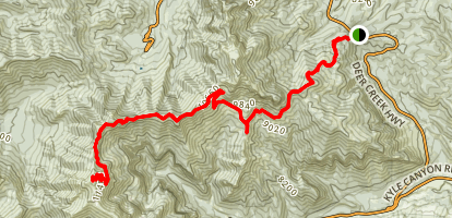 Mount Charleston Peak via Deer Creek Trail Map