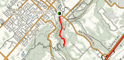 Grindstone Creek via Waterdown Trail Map