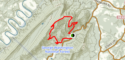 Meneka Peak Loop Map