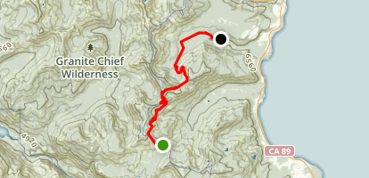 Barker Pass to Ward Creek Rd  Map