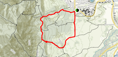 Shanahan, Big Bluestem and Mesa Trail Loop Map