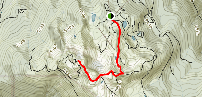Whistler Mountain via Pika's and Mathew's Traverse Map