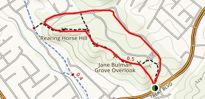 Jane Bulman Grove Overlook and Rearing Horse Hill Map