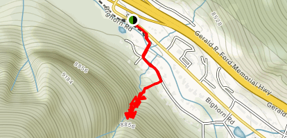 East Vail Falls Map
