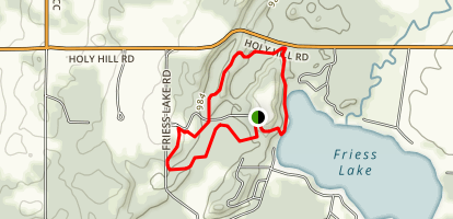 Glacier Hills Black Trail Map