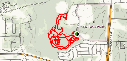 Faulkner Park Trail Map