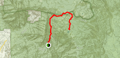 Shake Camp Campground to Maggie Lakes Map
