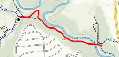 West Fork Trinity River Short Hike Map