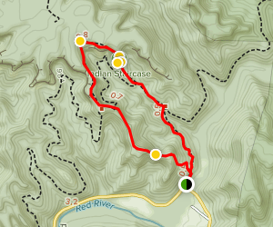 Indian Staircase & Adena Arch Loop Map